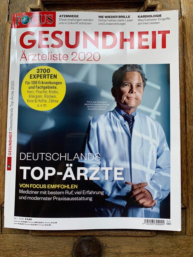 Magazin Focus Gesundheit mit einem Arzt im weißen Kittel auf dem Titelbild