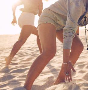 Oberschenkel am Strand